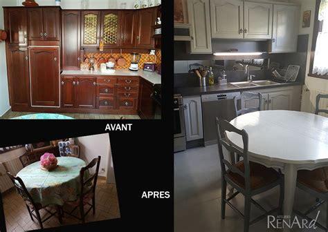 cuisine rustique grise renovation peinture cuisine peindre des meubles de