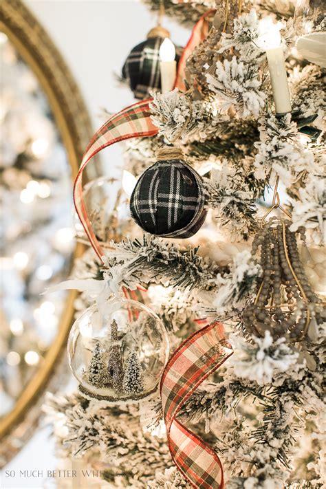 diy plaid christmas ornaments     age