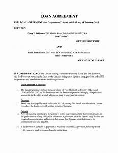 Simple personal loan agreement template free loan for Personal loan document free