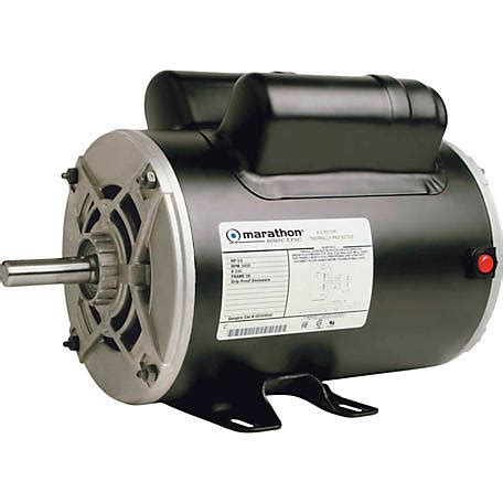 Electric Motor Supply by Marathon Electric Air Compressor Motor 3 1 2 Hp At