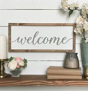 Welcome sign wood farmhouse wall decor