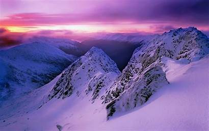Snowy Mountains Desktop Backgrounds Sunset Sky Mountain