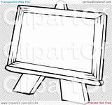 Easel Coloring Outline Illustration Royalty Rf Clipart Visekart Regarding Notes Quick sketch template