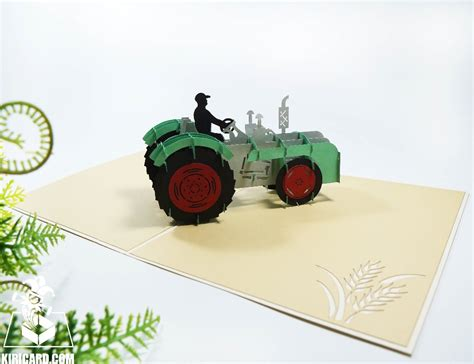 handmade tractor pop  card wholesale cheap price