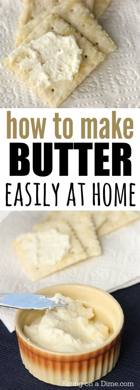how to make a buttery how to make butter with heavy cream eating on a dime