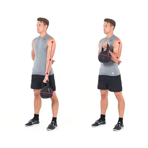 biceps arm kettlebell exercises arms exercise training bizeps side gymbox overhead squat triceps