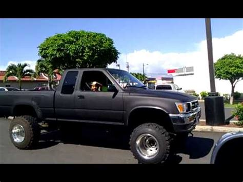 lifted toyota pickup 5 quot lifted 93 toyota p up truck 4x4 youtube