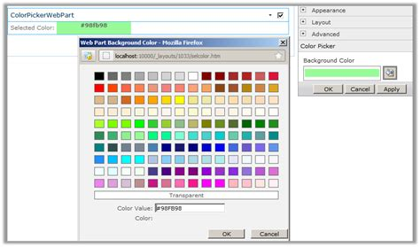 learn with parwej image webpart color picker tool part