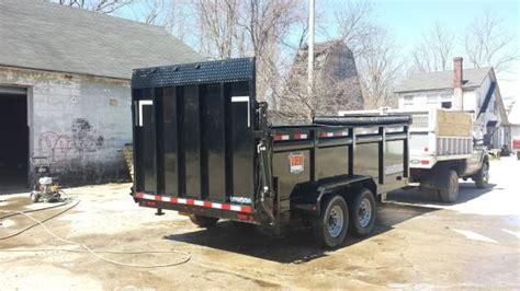 loadtrail  kgvw dump trailer  hydraulic gate lawnsite