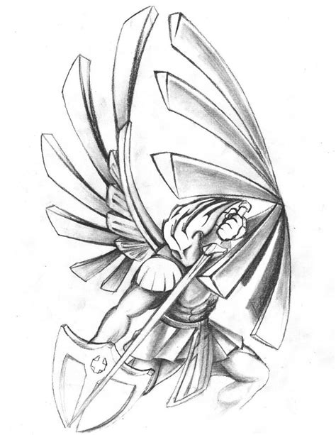 St Michael Tattoo Drawings | Saints warrior tattoo design by ~NeoGzus on deviantART | Inspiring