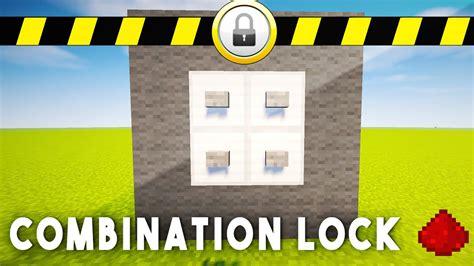 redstone combination lock minecraft redstone tutorial
