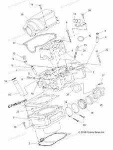 Polaris Atv 2010 Oem Parts Diagram For Engine  Cylinder