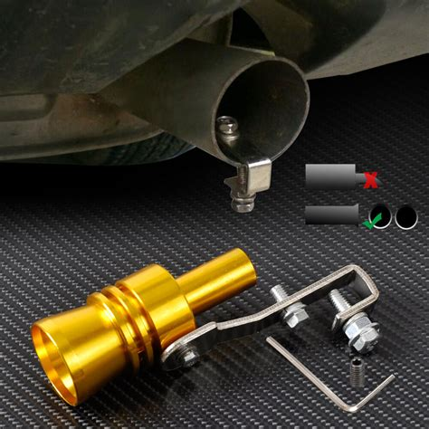 Exhaust Sound by Gold Car Turbo Exhaust Sound Whistle Muffler Auto