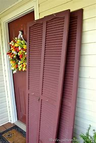 Painted Front Door and Shutters