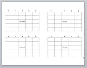 blank bingo cards template word templates