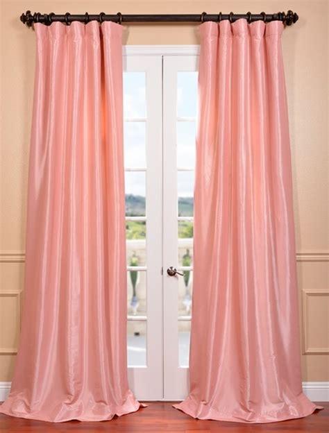 flamingo pink faux silk taffeta curtain contemporary