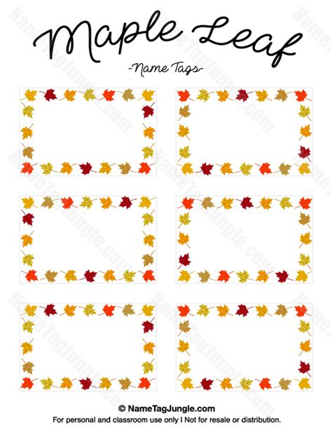 leaf name card template pin by muse printables on name tags at nametagjungle