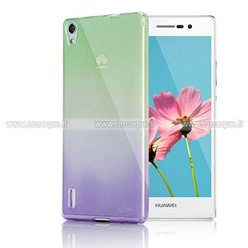 coque huawei ascend p7 degrade silicone gel housse verte