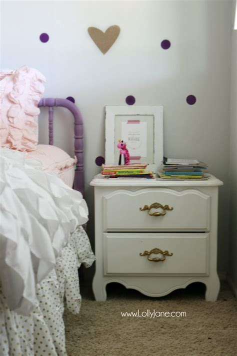 girl purple  gold bedroom ideas lolly jane