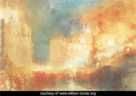 Turner The Complete Works Burning Of The Houses Of