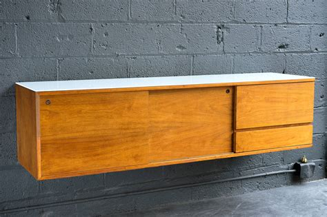 wall credenza wall mounted credenza by mel smilow at 1stdibs