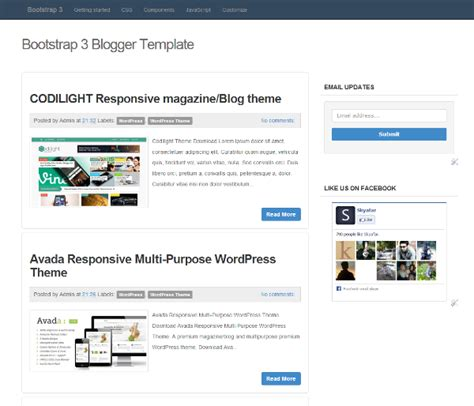 bootstrap 3 responsive template