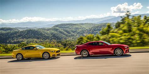Photos 2016 Chevy Camaro Ss Vs 2016 Ford Mustang Gt