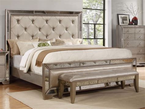 Cing Bed by Antique Formal Contemporary Est King Size Bed Mirrored