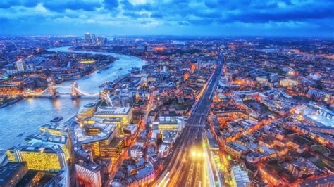 The City Of London And Blue Hour Air View 4k Ultra Hd
