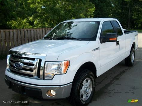 ford truck white 2011 oxford white ford f150 xlt supercab 4x4 51134545