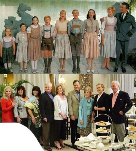 The sound of music was and still is. Main actors from The Sound of Music. I love this ' Then and Now' picture- I wondered what the ...