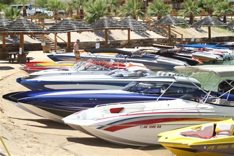 High Performance Boats Lake Havasu by The Gathering Visitors Begin To Assemble For Desert