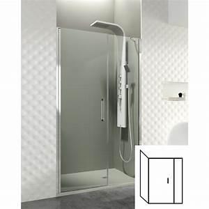 paroi de douche d39angle porte battante helia e robinet With porte de douche d angle