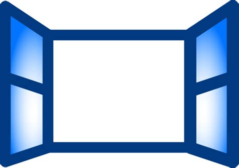 Blue Open Window Clip Art At Clker.com