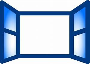 Blue Open Window Clip Art at Clker.com - vector clip art ...