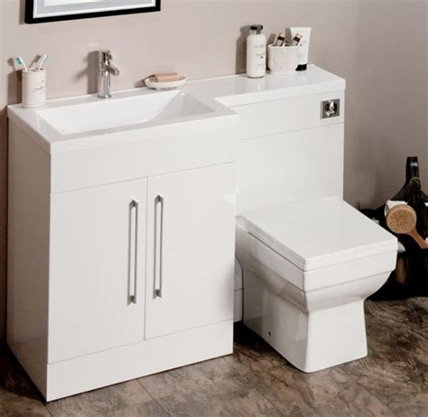 L Shaped Bathroom Vanity Unit l shaped gloss white vanity unit and wc combination lh