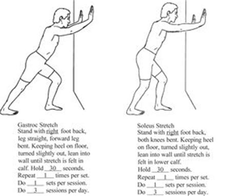 Back Pain After Standing by Gastroc Soleus Stretch Recovery Exercises Pinterest