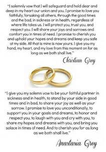 christian wedding vows christian vows fifty shades of grey christian and vows