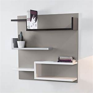 Support étagère Murale : tag re murale design taupe 100 x 100 cm myshelf ~ Premium-room.com Idées de Décoration