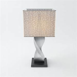 spiral table lamp 3d model max obj 3ds fbx cgtradercom With table lamp 3d archive
