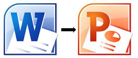 comment convertir  document word en powerpoint