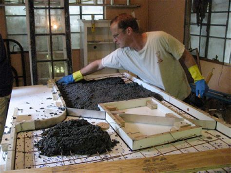 how to fill holes in concrete countertops home dzine home improvement install diy concrete countertops