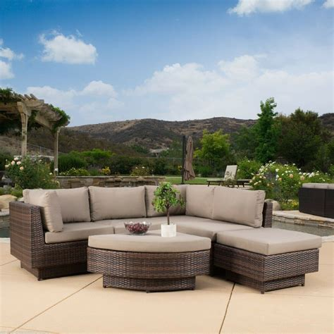 Outdoor Patio Furniture by Outdoor Patio Furniture 6 Multi Brown Pe Wicker Sofa