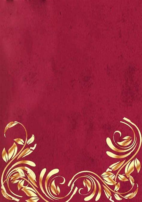 red  gold wedding invitation background wedding