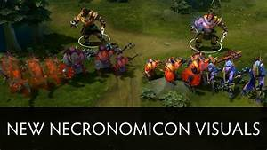 Dota 2 New Necronomicon Visuals Side By Side Comparison