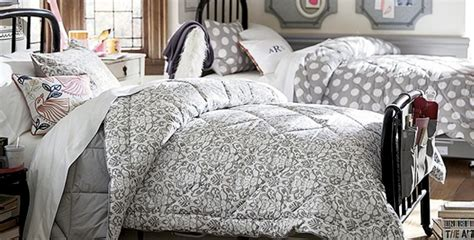 Pottery Barn Dorm Budget Makeover-polka Dot Bedding
