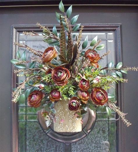 wall flower arrangements top 753 ideas about door basket on wall basket 3309