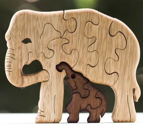 elephant puzzle wooden puzzle wooden toy wood puzzle