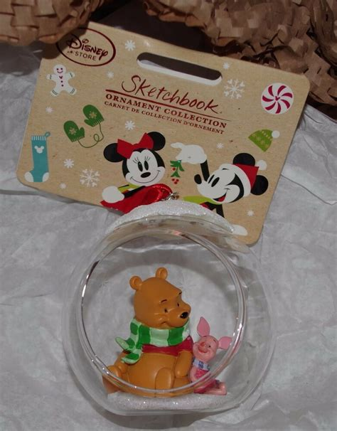disney store winnie  pooh open globe bauble christmas
