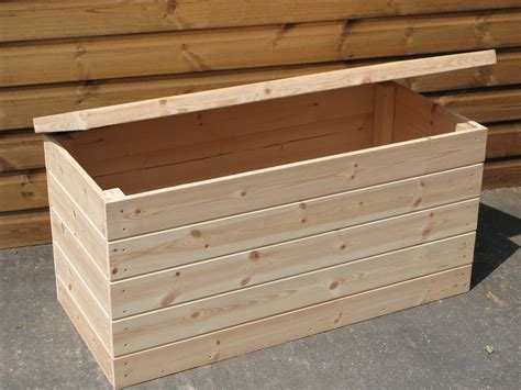 Wooden Garden Storage wooden garden storage boxes with lids